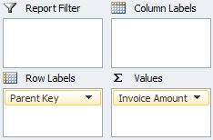 Browse in Excel - Columns and Rows