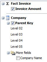 Browse in Excel - Field List