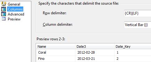 Output File - Columns